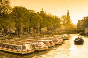 NLD0438AW Munttoren and Amstel River, Amsterdam, Netherlands