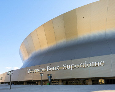 USA12669AW United States, Louisiana, New Orleans. Mercedez Benz Superdome, home of the New Orleans Saints football team.