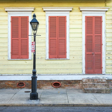 USA12679AW United States, Louisiana, New Orleans. Colorful doors and windows in the French Quarter.