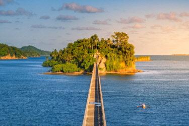 DMR0052AW Samana, Santa Barbara de Samana, Samana Peninsula, Dominican Republic. Bridge to Nowhere.