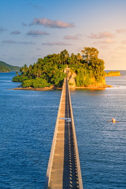 DMR0053AW Samana, Santa Barbara de Samana, Samana Peninsula, Dominican Republic. Bridge to Nowhere.