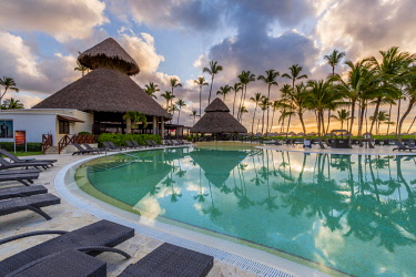 DMR0057AW Bavaro Beach, Bavaro, Higuey, Punta Cana, Dominican Republic. Beach resort.