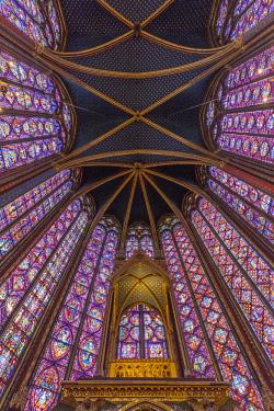 FR20148 13th century Sainte Chapelle chapel, Ile de la Cite, Paris, France