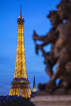 FR20361 Eiffel Tower & Pont Alexandre III, Paris, France