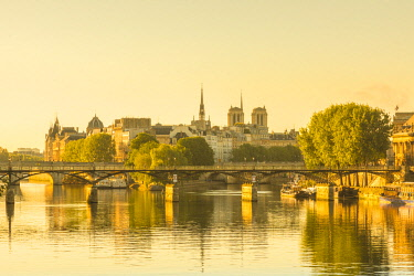 FR20217 Notre Dame Cathedral & Pont des Arts, Paris, France