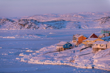 GRN1299 Settlement town of Ilulissat, West Greenland