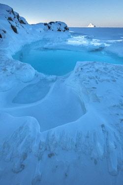 GRN1339 Frozen winter landscape, Oqaatsut, West Greenland