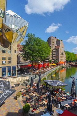 NL02291 Netherlands, South Holland, Rotterdam, Cube houses (or Pole Houses or Tree Houses), Kubuswoningen