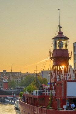 NL02331 Netherlands, South Holland, Rotterdam, Leuvehaven, Havenmuseum, Lightship