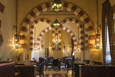 EG03259 Egypt, Upper Egypt, Aswan, Old Cataract Hotel, Saraya restaurant