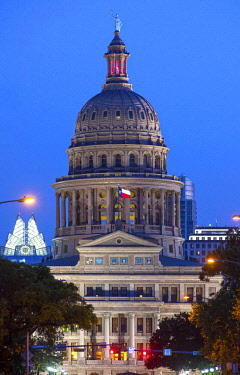 US13207 Texas, Austin, Texas State Capitol Building, Congress Avenue, National Register Of Historic Places, National Historic Landmark