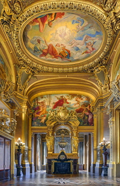 HMS2458481 France, Paris, Garnier opera house, the foyer