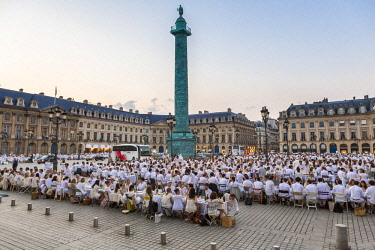 HMS2507430 France, Paris, Place Vendome, 28th edition the Dinner in White of June 8, 2016