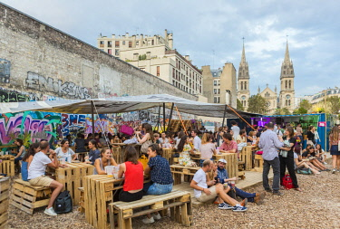 HMS2614376 France, Paris (75), the Wasteland (La Friche) Richard Lenoir open from 09/07/2016 to 05/11/2016 is an ephemeral place with bars, restaurants, entertainment, before the construction of a public garden...