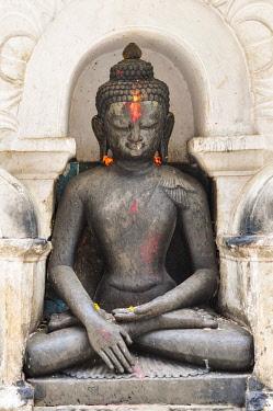 CLKFM59559 Buddha Statue in Swayambhunath temple,Kathmandu Valley,Nepal,Asia