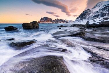 CLKWD59432 Uttakleiv Beach,Vestvagoy, Lofoten island,Norway