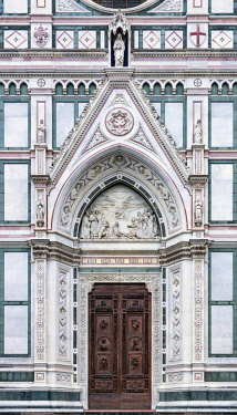 ITA10640AW Europe, Italy, Tuscany, Florence, Basilica di Santa Croce Exterior