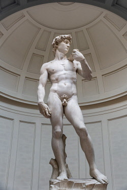 ITA10700AW Europe, Italy, Tuscany, Florence, Galleria dell Accademia, Michelangelos David,