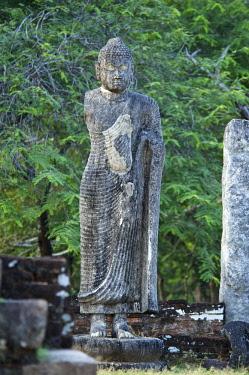 SRI2034AW Buddha statue in Polonnaruwa, Sri Lanka