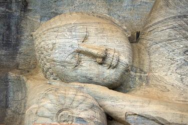 SRI2041AW Reclining Buddha in Polonnaruwa, Sri Lanka