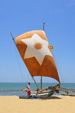 SRI2119AW Traditional Sailing Boat, Negombo, Sri Lanka