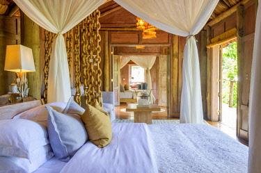 TZ02190 Room interiors at Lake Manyara Tree Lodge, Tanzania