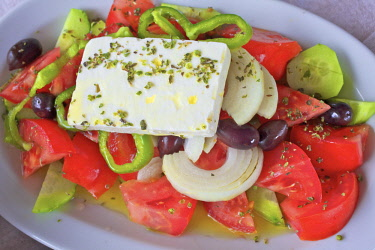 GR12377 Greek Salad, Crete, Greek Islands, Greece, Europe