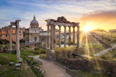 ITA10933AW Roman Forum at sunrise, Rome, Lazio, Italy