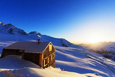 FRA9921 Europe, France, Haute Savoie, Rhone Alps, Chamonix, refuge Albert Premier