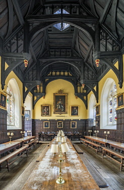 ENG14760AW Europe,United Kingdom, England, Oxfordshire, Oxford, Oriel College Hall