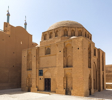 IRA1261 Iran, Yadz. The Davazdah Imam Mausoleum was built in the first half of the 11th century and is the earliest dated monument in Yadz. The square symmetrical building with a plain dome is built of baked...