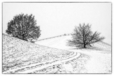 DE07243 Germany, Bavaria, Munich, Olympiapark in winter