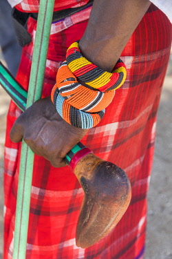 AF21EWI0091 Africa, Kenya, Samburu National Reserve. Tribal handicrafts, jewelry.