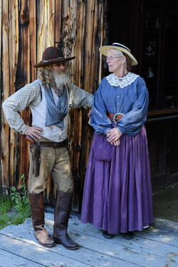 USA12841AW USA, America, Montana, Actors in costume at the Nevada City Ghost Town