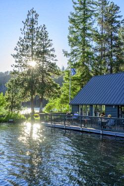 USA12863AW USA, North America, Cascades, Oregon, The Boathouse at Suttle Lake Lodge.