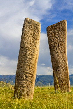 AS25TNO0194 Deer stones with inscriptions, 1000 BC, Mongolia.