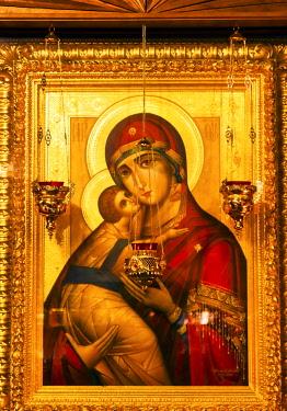 AS43WPE0007 Saint Barbara, Saint Michael Cathedral, Kiev, Ukraine. Saint Michael's is a functioning Greek Orthodox Monastery in Kiev.