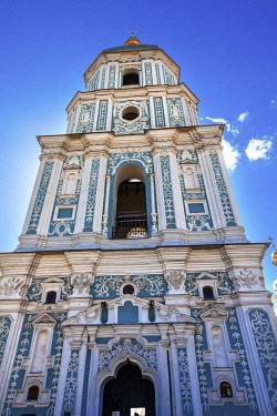 AS43WPE0060 Saint Sofia Cathedral, Sofiyskaya Square, Kiev, Ukraine. Saint Sophia is oldest Cathedral and Church in Kiev. Saint Sofia was built by King Yaroslov the Wise in 1037.