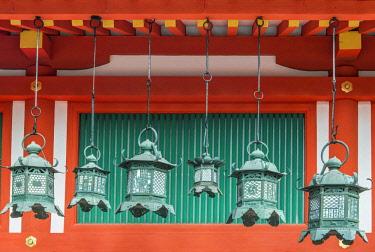AS15RTI0985 Japan, Nara, Kasuga Shrine Lanterns