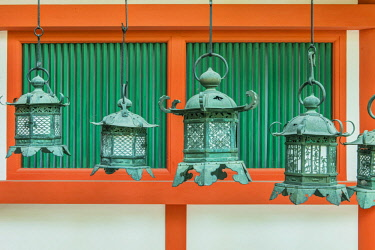 AS15RTI0987 Japan, Nara, Kasuga Shrine Lanterns