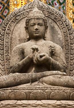 AS36AWO0026 Stone statue at the Grand Palace, Bangkok, Thailand