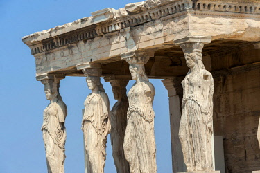 EU12JEN0031 Porch of the Maidens, Erechtheion, Acropolis, Athens, Greece, Europe