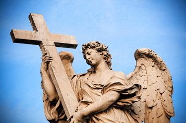 EU16NTO1335 Statue of Ponte Sant Angelo, Rome, Unesco World Heritage Site, Latium, Italy, Europe
