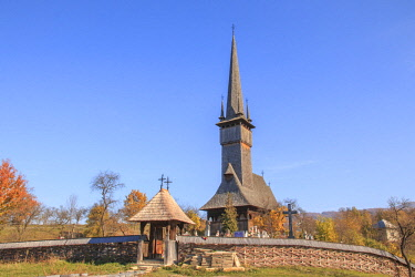 EU24EWI0279 Romania, Maramures County, Rogoz, Wooden church of Rogoz, built 1663 AD. UNESCO