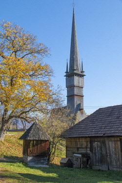 EU24EWI0284 Romania, Maramures County, Rogoz. Wooden church. UNESCO site.