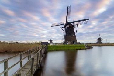 NL02346 Windmills, Kinderdijk, UNESCO World Heritage Site, Netherlands, Europe