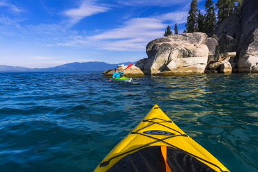 US05RBS0280 Kayaking on Lake Tahoe, DL Bliss State Park, California, USA (MR)