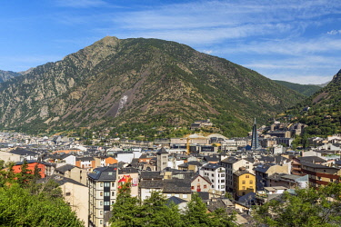 AND1029AWRF City skyline, Andorra La Vella, Andorra