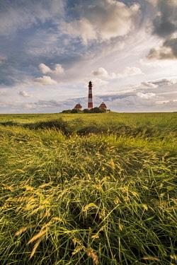 GER10275AWRF Westerhever lighthouse, Eiderstedt, North Frisia, Schleswig-Holstein, Germany.