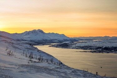 CLKFM58617 Sunset at Troms,Troms county,Norway,Europe
